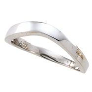 14kt White RING Polished STACKABLE METAL FASHION RING