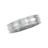 Titanium SIZE 9 Polished DESIGN BAND W/DIAMOND