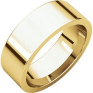 14kt Yellow 07.00 mm Flat Comfort Fit Band