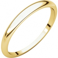 14kt Yellow 02.50 mm Half Round Tapered Band