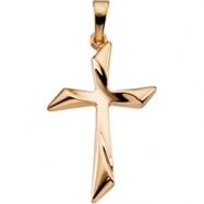 14kt Yellow 25.50X18.00 MM Polished CROSS PENDANT