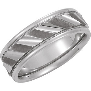 14kt White Band 08.50 NONE Complete No Setting Polished DESIGN DUO BAND. Price: $948.50