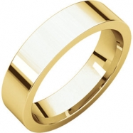 10kt Yellow 05.00 mm Flat Comfort Fit Band