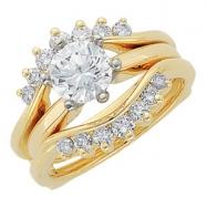 14KY 1/2 CT TW P DIAMOND RING GUARD