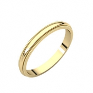 14kt Yellow 02.50 mm Milgrain Band