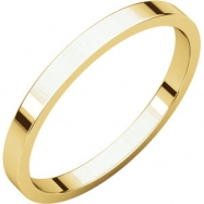 14kt Yellow 02.00 mm Flat Band