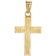 14kt Yellow 20.00X13.00 MM Polished CROSS PENDANT