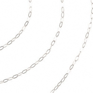 14kt White BULK BY INCH Polished CABLE CHAIN