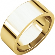 14kt Yellow 08.00 mm Flat Comfort Fit Band