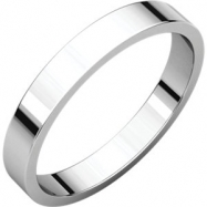 10kt White 03.00 mm Flat Band
