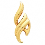14kt Yellow Polished Metal Fashion Pendant