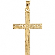 14kt Yellow 30.00X20.00 MM Polished CROSS PENDANT