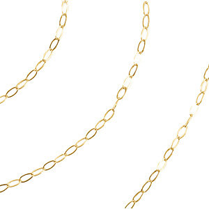 14kt Yellow BULK BY INCH Polished SOLID CABLE CHAIN. Price: $1.87