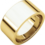 14kt Yellow 10.00 mm Flat Comfort Fit Band