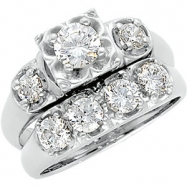 PLAT 04.80 MM/ 5/8 CT TW BAND P DIAMOND BAND