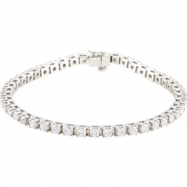 14kt White 4 1/2 CT TW/ 7 1/4 INCH Polished DIAMOND BRACELET