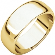 10kt Yellow 07.00 mm Half Round Band