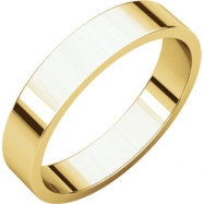10kt Yellow 04.00 mm Flat Band