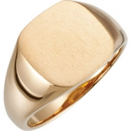 14kt Yellow 07.00 mm Polished Signet Ring
