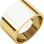 14kt Yellow 12.00 mm Flat Band