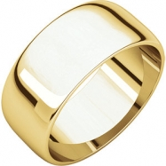 10kt Yellow 08.00 mm Light Half Round Band