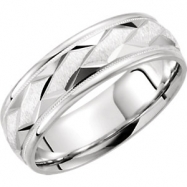 14kt White Band 11.00 NONE Complete No Setting Polished DUO BAND