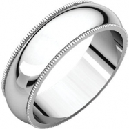 14kt White 06.00 mm Milgrain Band