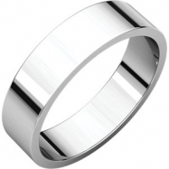 10kt White 05.00 mm Flat Band
