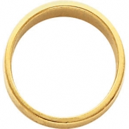 14kt White 08.00 mm Flat Tapered Band