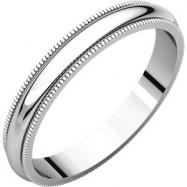 Platinum 03.00 mm Milgrain Band
