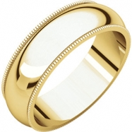 14kt Yellow 06.00 mm Milgrain Band