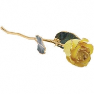 "12"" YELLOW ROSE 12"" LACQ YELLOW ROSE W/TRIM"