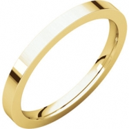 14kt Yellow 02.00 mm Flat Comfort Fit Band