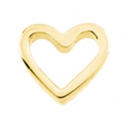 PLAT 07.00X06.00 MM P HEART SHAPED CHAIN SLIDE