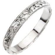 Platinum 6 Hand Engraved Band