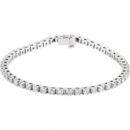 14kt White 3 3/8CTW Diamond Bracelet