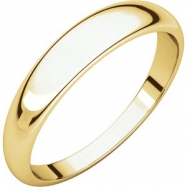10kt Yellow 04.00 mm Half Round Tapered Band