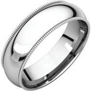 Platinum 06.00 mm Comfort Fit Milgrain Band