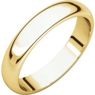 10kt Yellow 04.00 mm Half Round Band