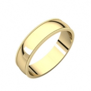 10kt Yellow 05.00 mm Light Milgrain Band