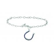 Diamond & sapphire horse shoe bracelet
