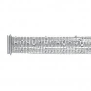 Diamond Bezel Bracelet, 14K White Gold