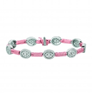 Diamond oval 2 bars bracelet