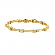 Diamond square bracelet