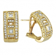 Diamond Earrings 14K Yellow Gold