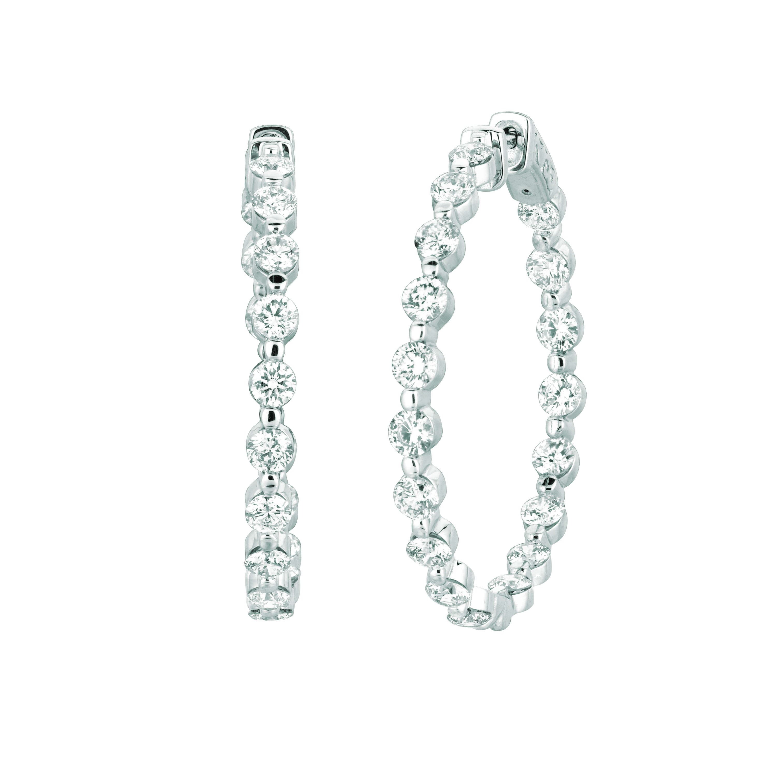 15 Pointer diamond hoop earrings. Price: $9367.33