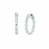 15 Pointer diamond hoop earrings