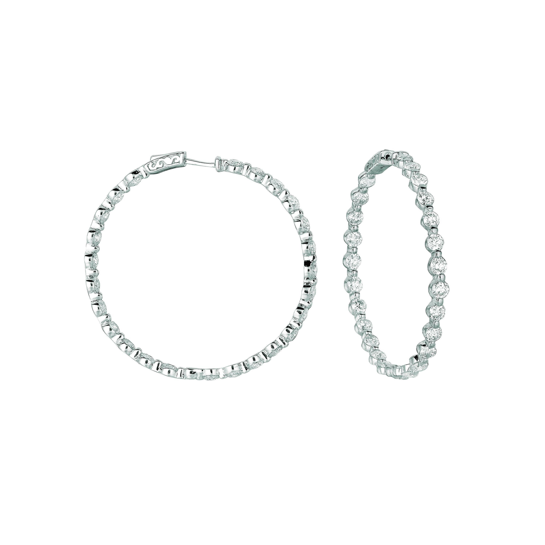 20 pointer diamond hoop earrings. Price: $19310.00