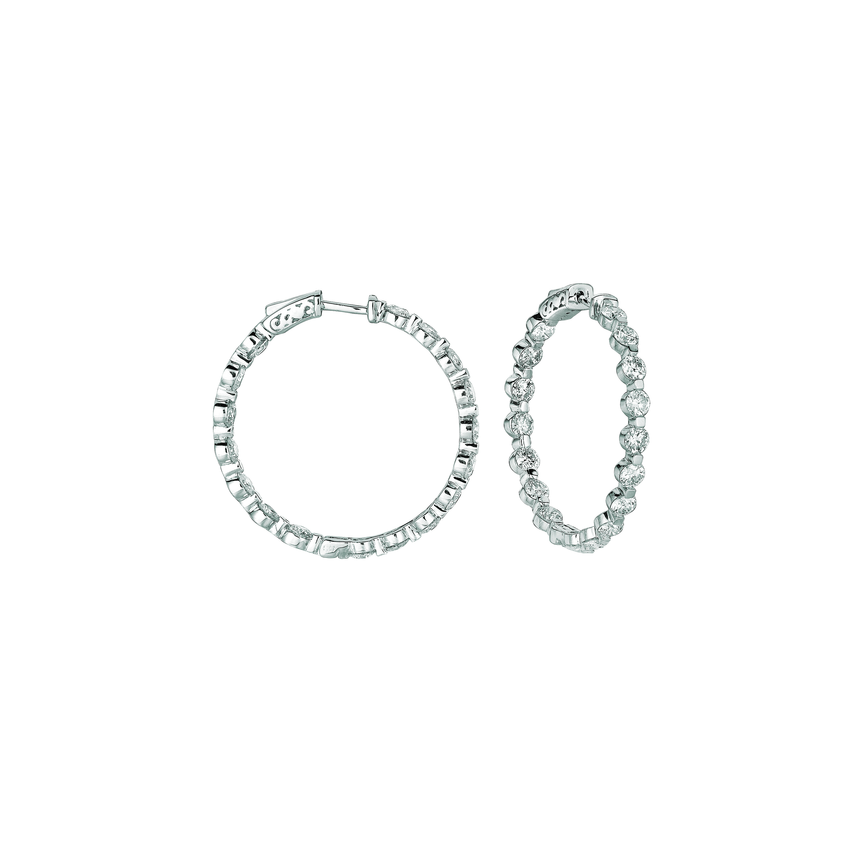 20 pointer diamond hoop earrings. Price: $13332.67