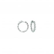 20 pointer diamond hoop earrings